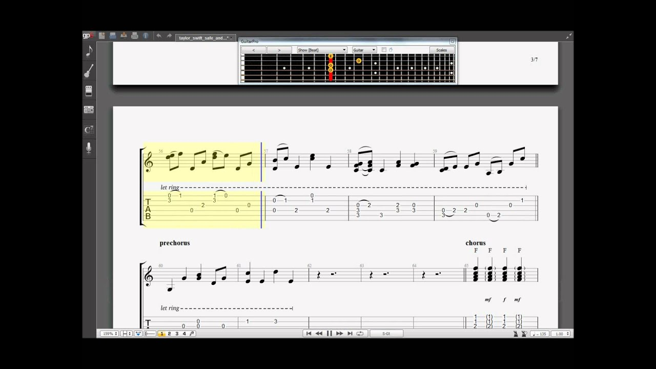 Learn How To Play Taylor Swift Safe Sound Acoustic Guitar Pro 6