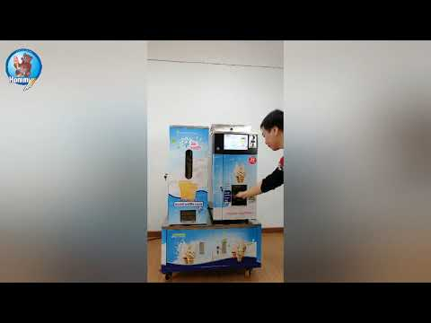 HM116T table top vending ice cream machine with waffle cone