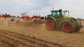 Planting corn with a NEW White planter and Fendt tractor
