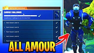 UNLOCKING MAX LEVEL 'CARBIDE' SKIN FULL AMOUR! SEASON 4 FORTNITE MAX LEVEL 100 GAMEPLAY!