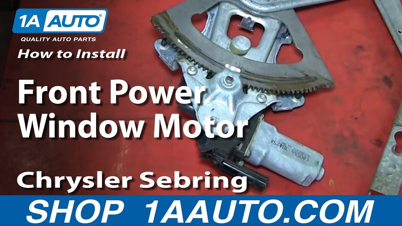 how to install replace front power window motor 2001 06 chrysler sebring 4 door [ 1280 x 720 Pixel ]