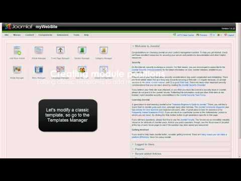 Joomla Template Tutorials - Module Positions And Class Suffixes