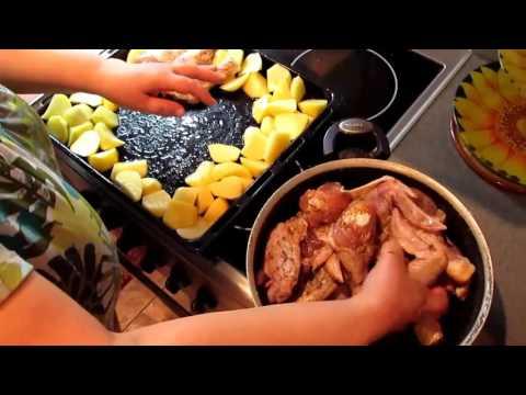 Картошка с окорочками в духовке