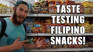 TASTE TESTING FILIPINO SNACKS!