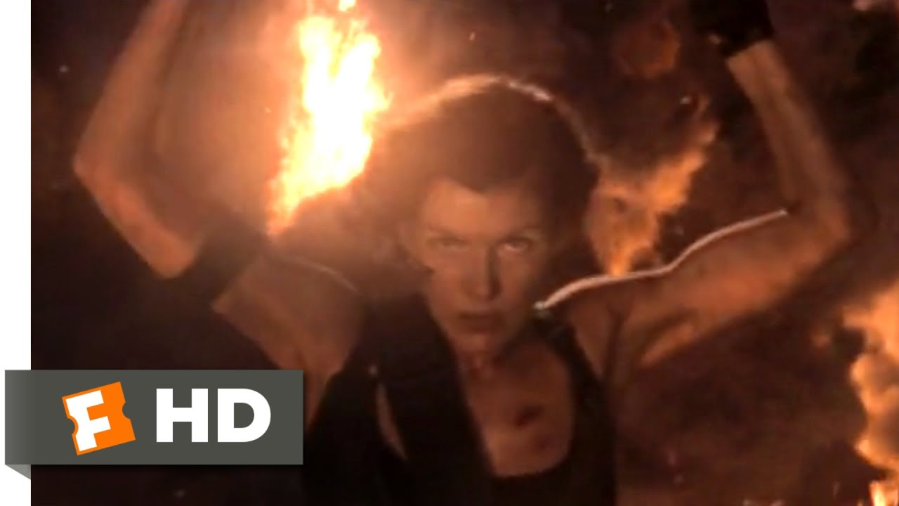 Resident Evil The Final Chapter 2017 Tower Inferno Scene 5