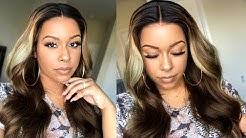 Fake Scalp Brown Ombre Blonde Human Hair Lace Wig!   Pre Plucked   Pre Bleached   RPGSHOW