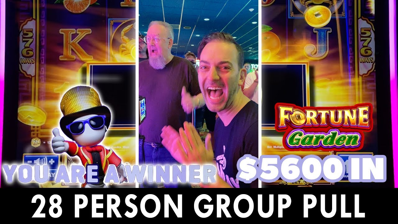 🎰 $5,600 on BRAND NEW Fortune Garden 🎰 28 Person Group Pull!