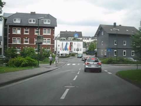 Driving in Olpe,  Germany (West-East)