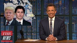 President Trump's Behavior at G7 Summit Mocked by Late-Night Hosts | THR News