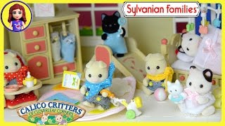 Sylvanian Families Calico Critters Baby Room Nursery Set Unboxing Review Play - Kids Toys