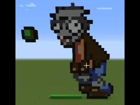 Minecraft Plants Vs Zombies Pixel Art 3 마인크래프트 식물 Vs 좀비 픽셀아트