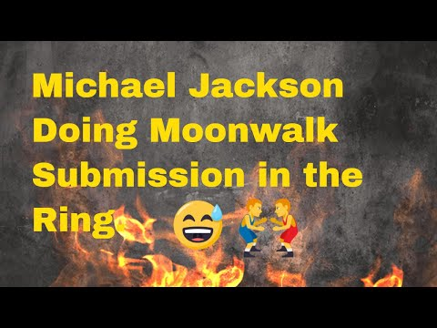 Funny Videos   Michael Jackson does moonwalk Submission in the Ring Wrestling