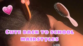 Cute hairstyles for back to school!