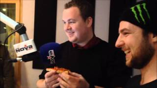 Death By Pizza Challenge on Morning Glory on Radio Nova