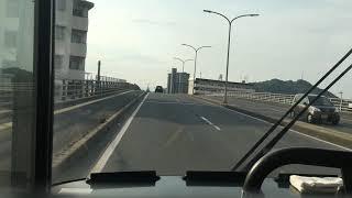 日の丸バス 前面展望 車窓 米子駅→武庫/ 日野本線 米子駅702発(日野病院行)