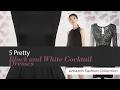5 Pretty Black and White Cocktail Dresses Amazon Fashion Collection