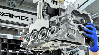 Mercedes AMG 4-Cylinder Turbo Engine For CLA 45 AMG Production in Affalterbach Germany