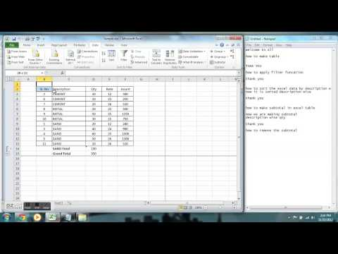 How To Remove The Subtotal In Microsoft Excel 2010
