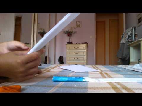 Comment faire une épé en papier 2éme partie