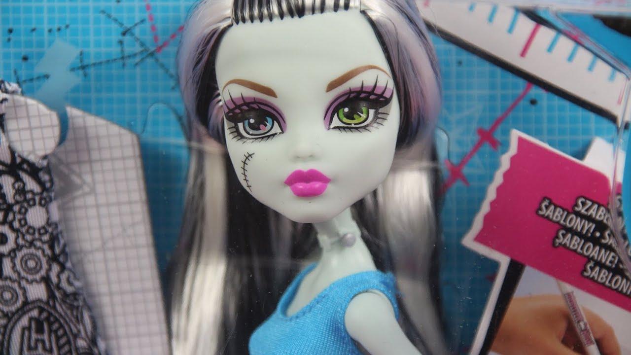 Monster High Designer Booo Tique Frankie Stein Doll Fashions Projektuj Z Frankie Dnm27 Youtube