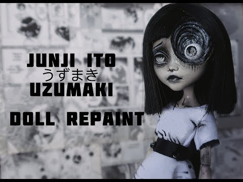 Uzumaki Spiral Girl | Junji Ito OOAK | Halloween Doll Repaint | etellan