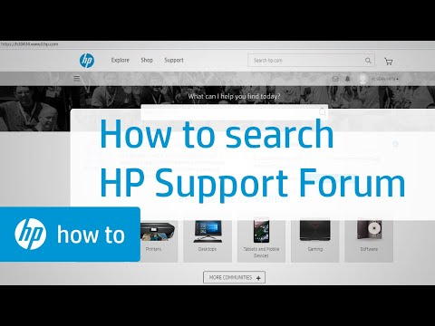 Searching | HP Support Forum | HP