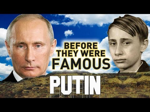 VLADIMIR PUTIN - BEFORE THEY WERE FAMOUS - Russian leader