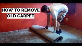 How To Remove Old Carpet - Diy