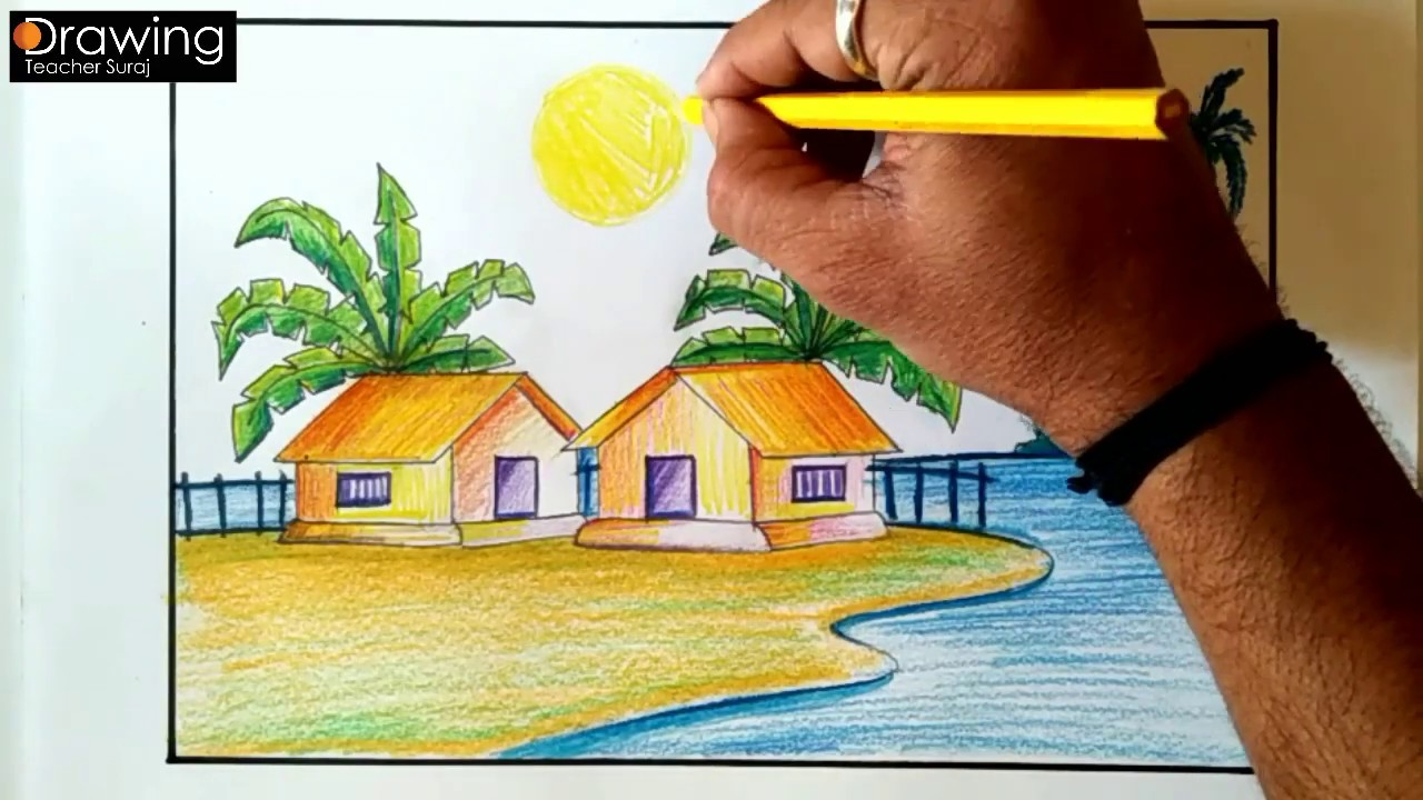 Featured image of post Pencil Colour Beautiful Landscape Drawing 50 drawing landscapes pencil ideas landscape drawings