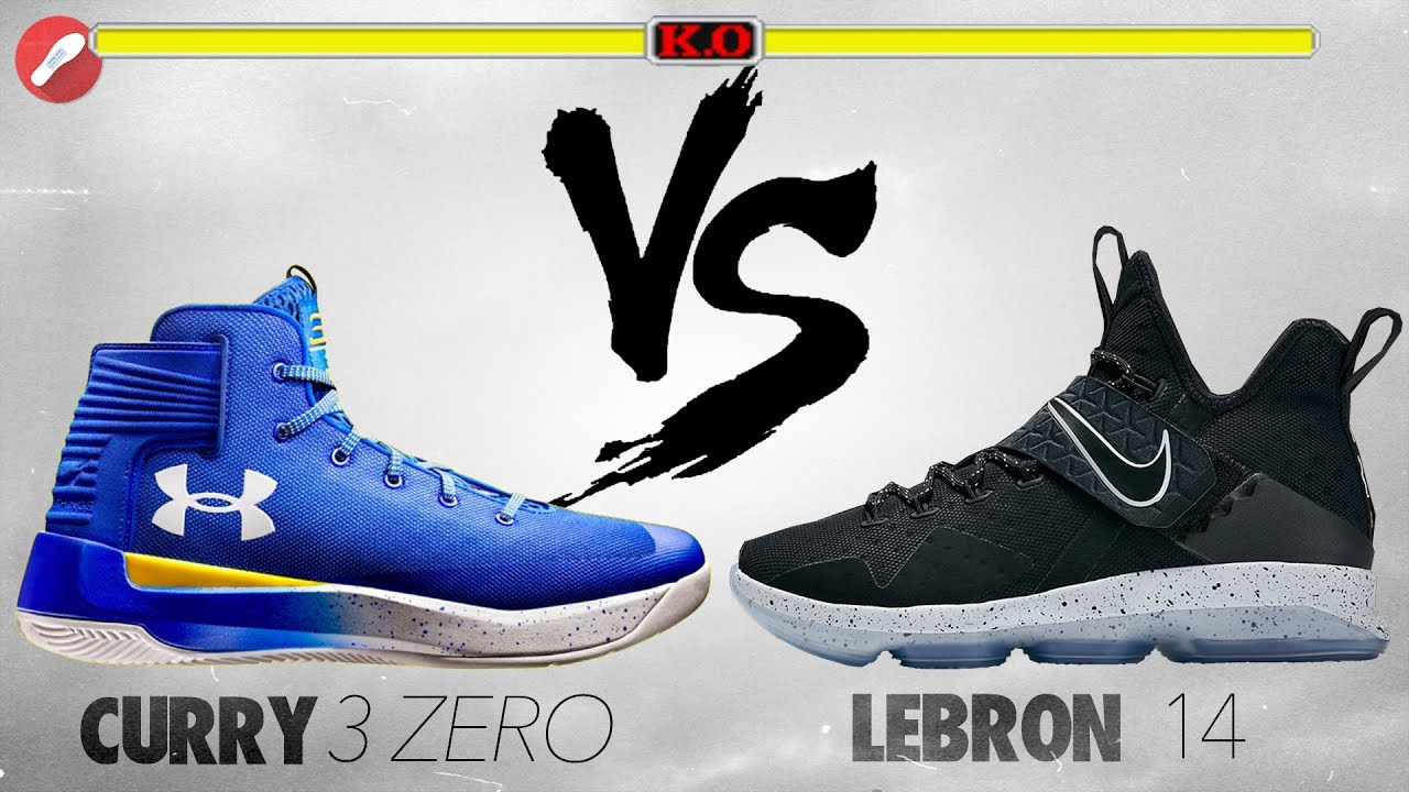 7e0fa4774d0 Under Armour Curry 3ZERO VS Nike Lebron 14 - YouTube