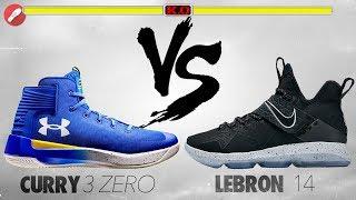 Under Armour Curry 3ZERO VS Nike Lebron 14