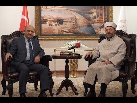 Diyanet İşleri Başkanı Erbaş, Almanya'nın Ankara Büyükelçisi Erdmann'ı kabul etti