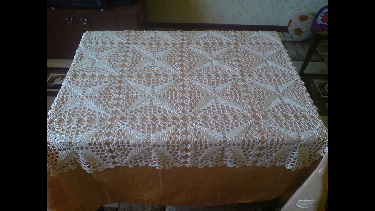 Mantel cuadrado tejido a crochet youtube - Cojines de ganchillo ...