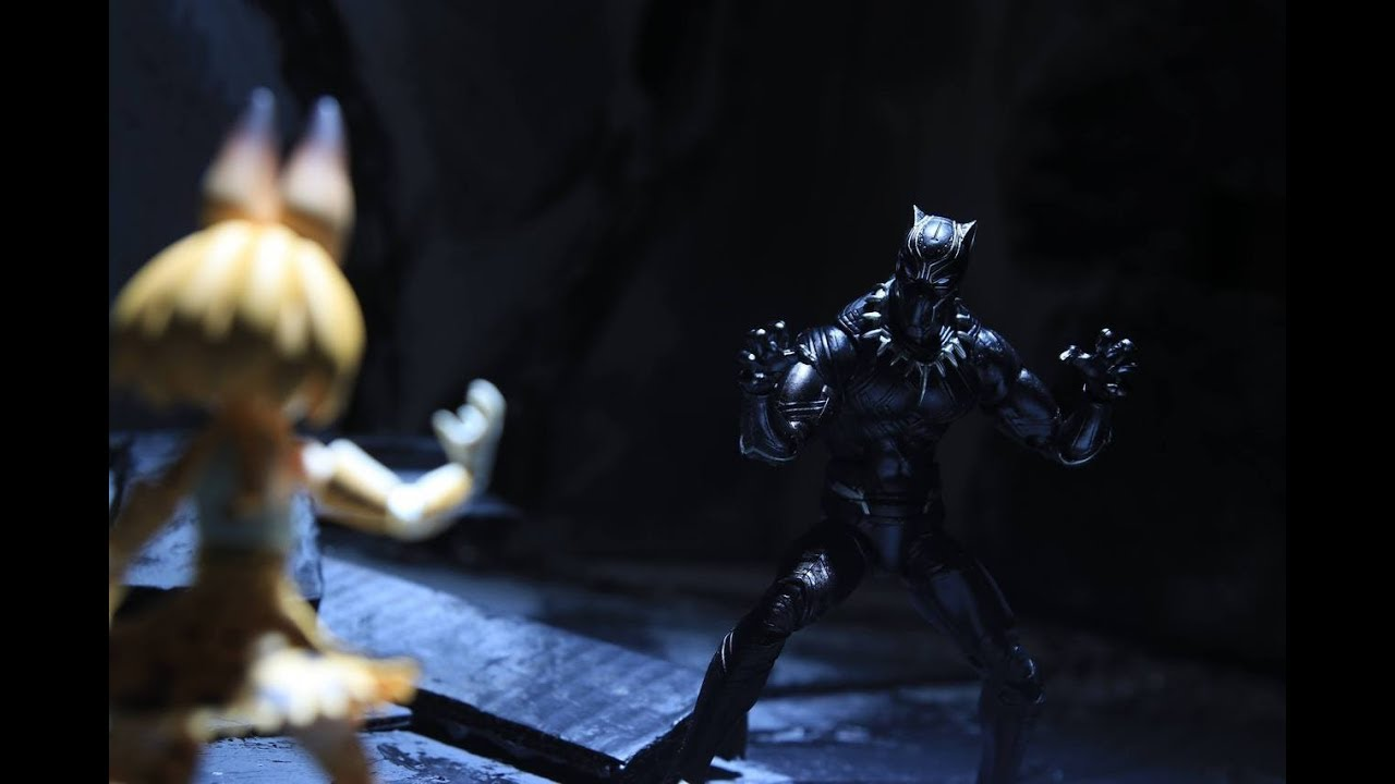 BLACK PANTHER STOP MOTION Action Video with Serval