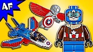 Lego Marvel Captain America Jet Pursuit 76076 Speed Build