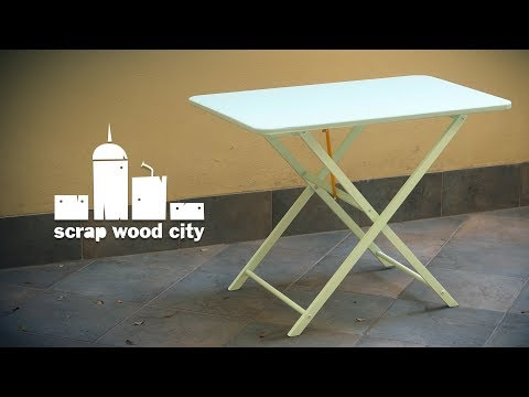 Making a folding table from an old IKEA laundry basket