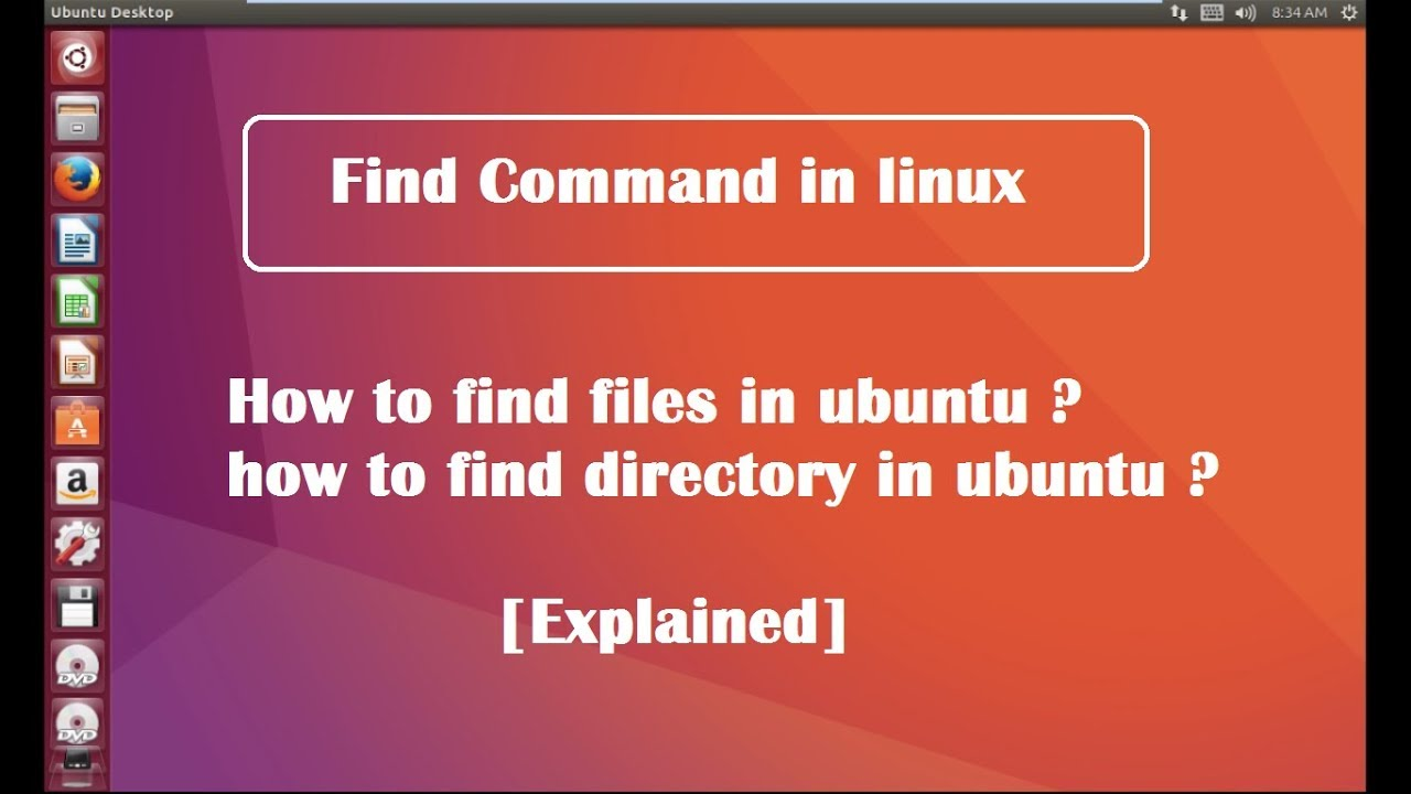 Find Command With Examples In Linux Ubuntu Explained Youtube