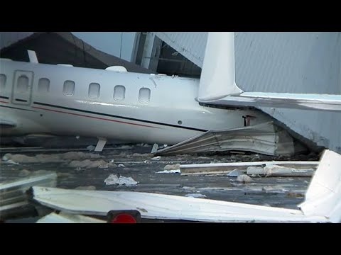 Houston airport hangar collapses in strong storms: report