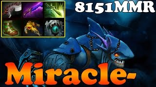 Dota 2 - Miracle- 8151MMR TOP 1 MMR in the World Plays Slark vol 10 - Ranked Match Gameplay