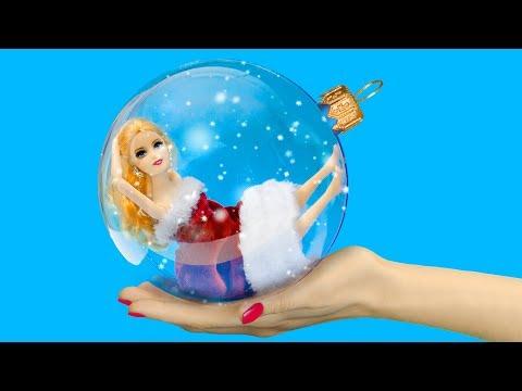 14 Barbie Christmas Hacks And Crafts / DIY Barbie Miniatures