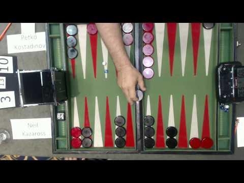 Carolina Backgammon FM R2 Neil Kazaross v Petko Kostadinov