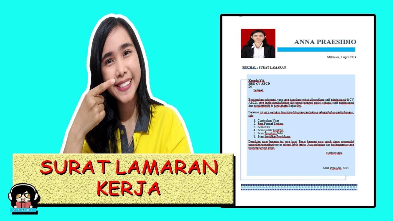 Contoh Surat Lamaran Kerja Yang Baik Dan Benar Youtube