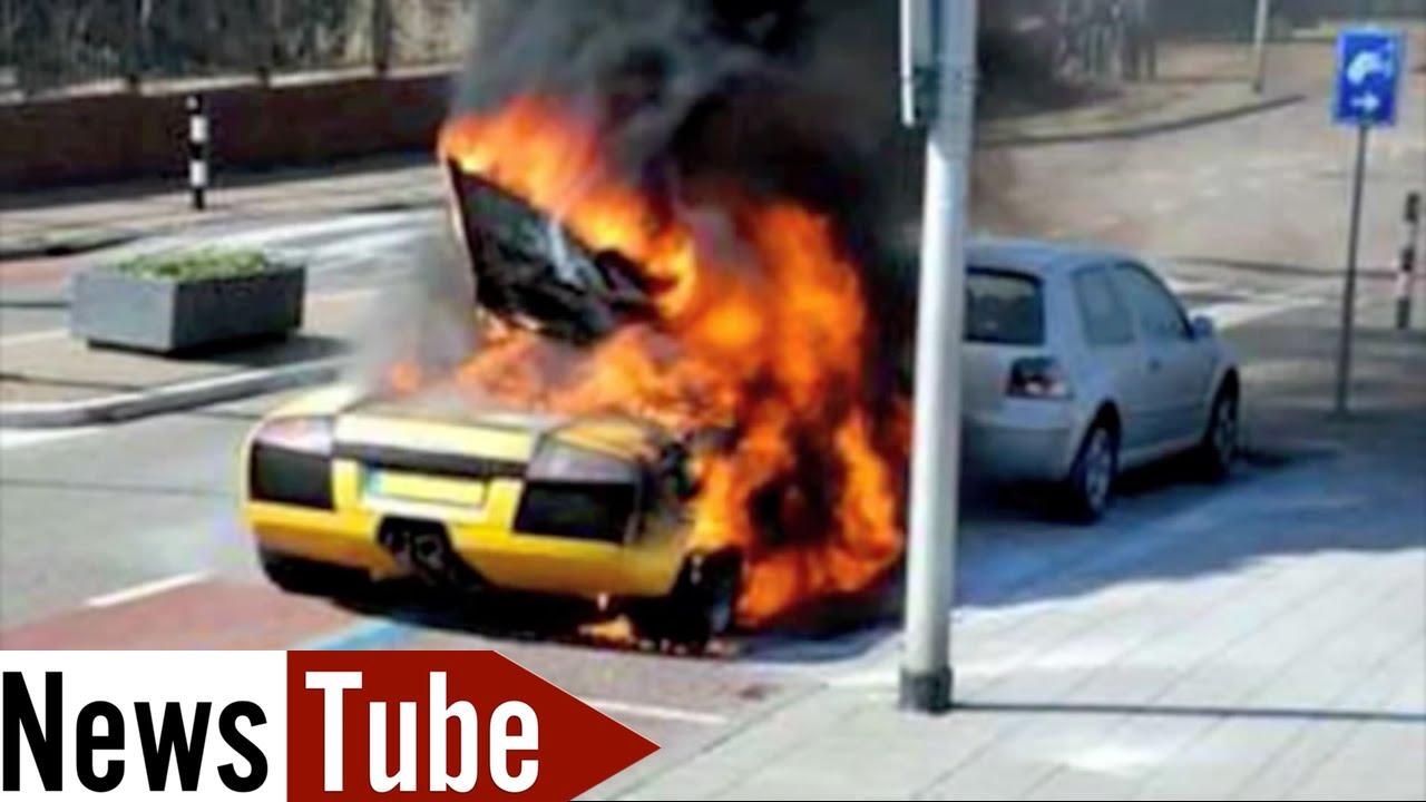 Crash Test Lamborghini Fatal 2014 Not Funny Youtube