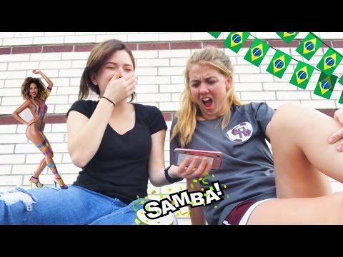 Gringa reagindo ao Carnaval Brasileiro - Diário de Intercâmbio USA