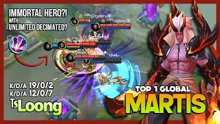 Forget to Ban Me? 19 Kill Under 8 Minutes? ᵀˢL̶o̶o̶n̶g̶  Top 1 Global Martis ~ Mobile Legends