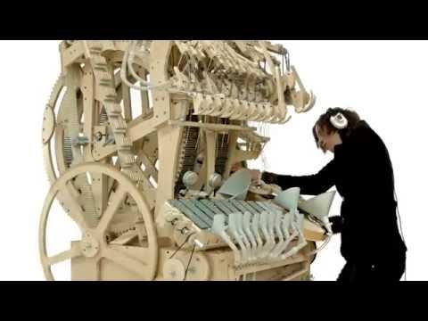 Alat Musik kayu keren menakjubkan (music instrument using 2000 marbles)