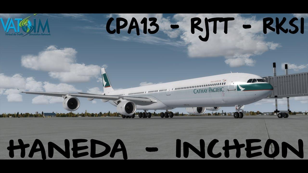 P3D VATSIM CPA13 - RJTT - RKSI - CATHAY PACIFIC - BLACKBOX A340 by  NZKIWIAVIATOR