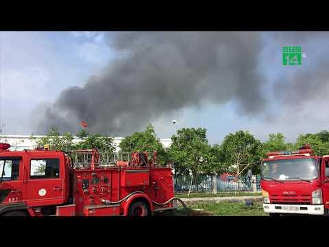 Cháy lớn tại công ty may mặc ở Hải Dương | VTC14