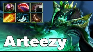 Arteezy Wraith King Carry Ranked MMR Game 7600 MMR [ Arteezy Gameplay ]