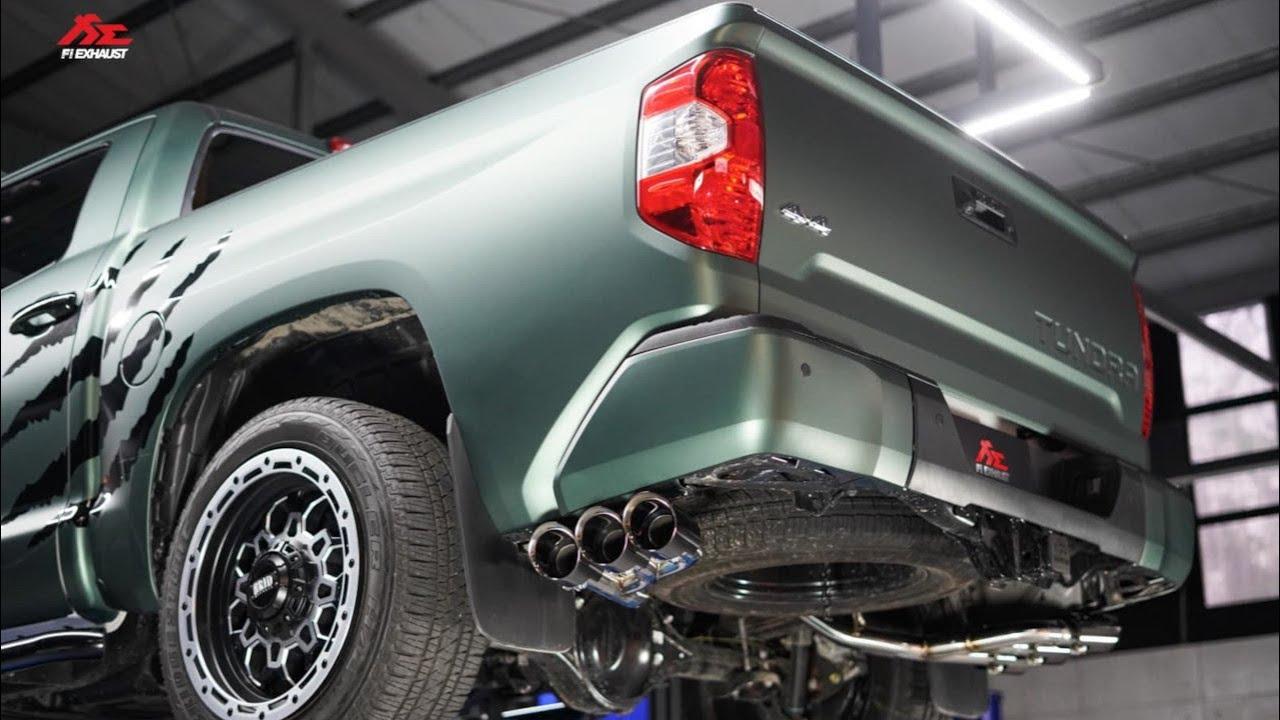 toyota tundra trd 2020 w fi exhaust growl and sextuple tips